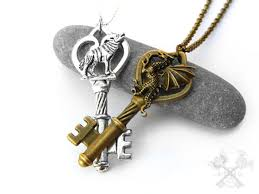 dragon key necklace images Dragon themed skeleton key necklaces art by starla moore jpg
