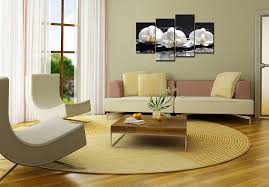 amazon com smartwallart spa paintings wall art three white spa paintings wall art three white orchid with stones and wet background 4 pieces picture print on canvas for modern home decoration posters prints