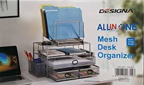 all in one desk organizer amazon com designa all in one mesh desk organizer office products