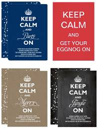 keep calm holiday party invitations christmas party ideas