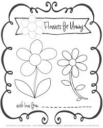 flowers for mommy free printable coloring sheet stage presents