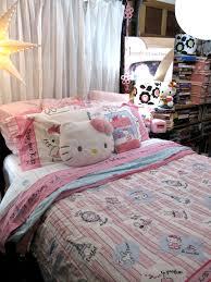 paris bedding for girls kids room hello kitty kids bedding sets with beige varnished