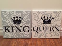 His And Hers Crown Wall Decor King And Queen Crowns From Kirklands And Ampersand From Hobby