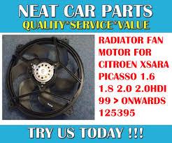radiator cooling fan motor for citroen xsara picasso 1 6 1 8 2 0