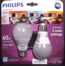 philips scene switch 60w equiv one bulbs 3 color settings a19 led