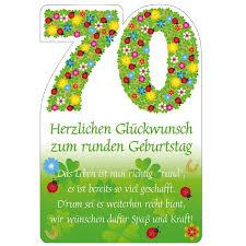 geburtstagssprüche zum 70 susy card 11324555 glückwunschkarte geburtstag zahl 70 blumen