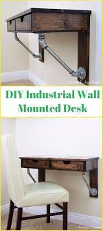 Wall Mounted Desk Diy Diy Rustic Industrial Wall Mounted Desk Tutorial Diy Wall