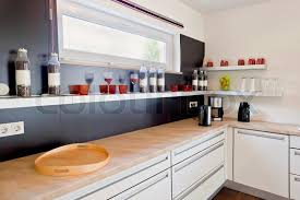 kitchen room interior modern house interior of modern kitchen room stock photo