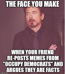 Funny Democrat Memes - face you make robert downey jr meme imgflip