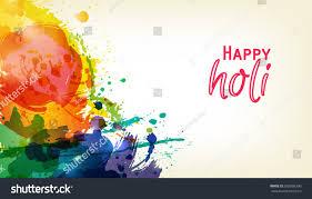 happy holi indian fest party celebration stock vector 392968390