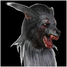 halloween werewolf props deluxe black werewolf mask mad about horror