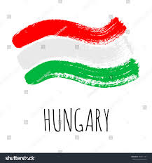 isolated vector hungarian flag designed using stock vector