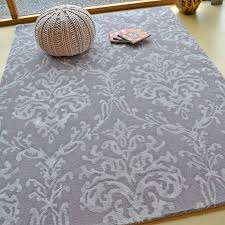 Damask Rugs Riverside Damask Rugs 46705 In Pewter By Sanderson Free Uk