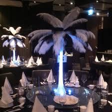 white eiffel feather centrepiece more info u003e u003e amethyst wedding