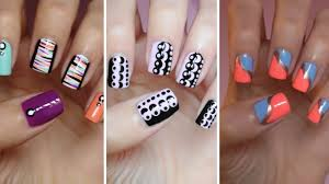 snazzy very easy nail designs water polish design really easy nail