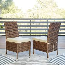 Patio Dining Chairs With Cushions Brookhaven Patio Dining Chair With Cushion Reviews Birch