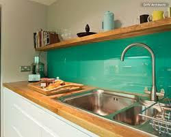 Backsplash Splashback Glass Colour Turquoise Blue Green - Acrylic backsplash