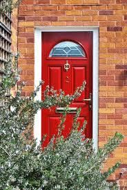 Red Front Doors Red Bannock Burn U0027 Half Moon U0027 Composite Front Door With Beautiful