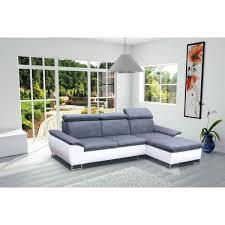 canapé d angle avec appui tête canapé d angle 4 places cayenne gris et blanc a achat vente