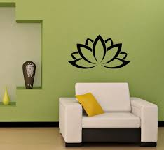 lotus flower patterns indian design wall vinyl decal art sticker lotus flower patterns indian design wall vinyl decal art sticker home modern stylish interior decor for any room smooth and flat surfaces housewares murals