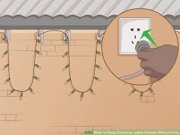 How To Hang Christmas Lights Outside Without Using Nails Or Screws
