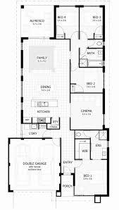 One Story 4 Bedroom House Floor Plans Single Story Floor Plans Fresh 2 Story 4 Bedroom House Floor Plans