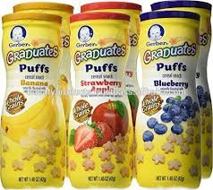 graduates snacks gerber graduates puffs variety baby cereal snacks pack of 6 buy