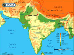 Geographical Map Of India by Geography Of South Asia