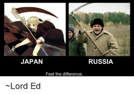 Japan Meme - japan russia feel the difference lord ed meme on me me
