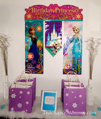 frozen birthday party decorations games food free printables