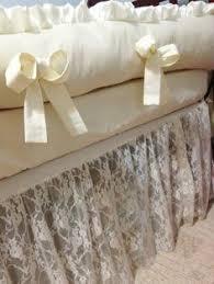 double bow ivory overlay crib bedding on etsy 725 00 nursery