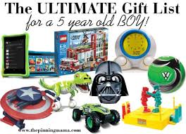 the ultimate list of gift ideas for a 5 year boy the pinning