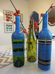 Wine Bottle Halloween Crafts by Diy Spray Painted Wine Bottles For Fall Decorating Homey Oh My