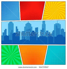 vector images illustrations and cliparts comic book page
