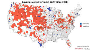 Tennessee Counties Map How The Red And Blue Map Evolved Over The Past Century America
