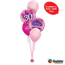 30th birthday balloon delivery pink 30th birthday classic at best prices in india archiesonline