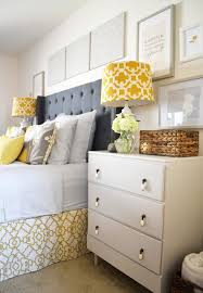 Yellow And White Bedroom Accessories Modern Yellow And Gray Bedroom Decor With Nice Soft Gray Curtains