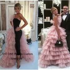 unique design black straight prom dress 2017 couture high quality