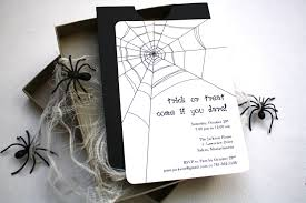 Spooky Spider Halloween Party Invitation Box Mailer Black