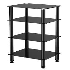 4 Tier Shelving Unit by Fitueyes 4 Tier Tv Media Stand For Audio Cabinet Apple Tv Xbox One