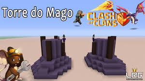 clash of clans no minecraft como fazer a torre do mago no