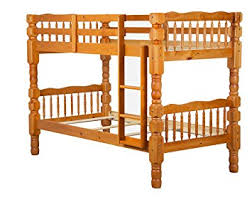 Amazoncom  Solid Wood Dakota Twin Over Twin Bunk Bed By - Solid wood bunk beds