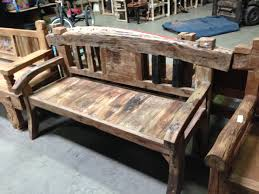 rustic and antique wood benches san diego reclaimed wood bench
