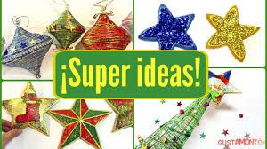 diy 4 ideas de adornos fáciles para navidad manualidades
