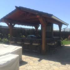 covered outdoor kitchen nor cal landscape design