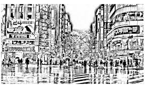 difficult tokyo japan coloring pages for adults justcolor