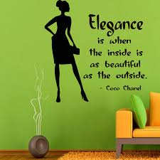 fashion woman wall decals girl quotes elegance beauty salon details fashion woman wall decals