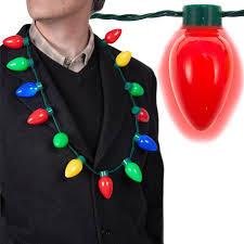 christmas light necklace led light up christmas bulb necklace string light
