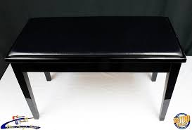 Yamaha Piano Bench Adjustable Yamaha Piano Bench Black High Gloss Ebony Finish Padded Top Reverb