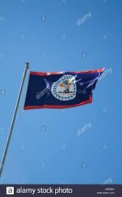 Belize Flag Belize San Pedro Ambergris Caye Belizean Country Flag Wave In